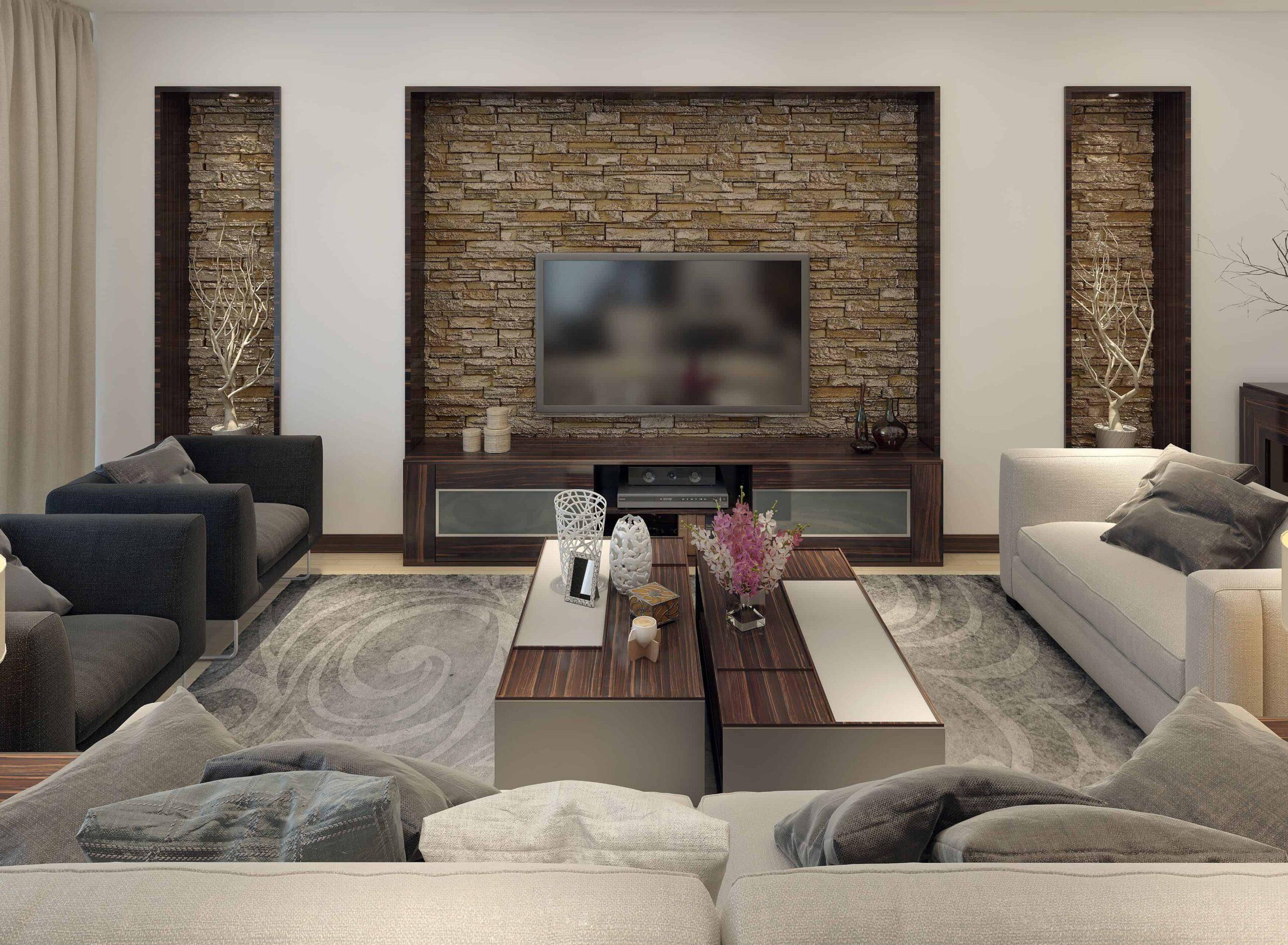 Acabado para interiores en piedra