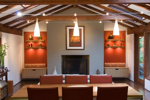 Ejemplo de iluminación puntual en interiores.